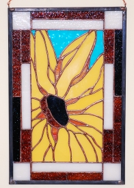 Black Eyed Susan Stained Glass