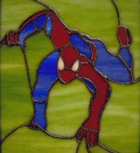 Spiderman Stained Glass