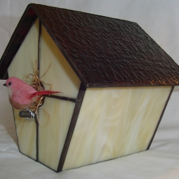Stained Glass Bird House