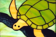 Stained Glass Sea Turtle