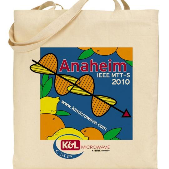 K&L Microwave IEEE MTT-S 2010 Anaheim tote bag