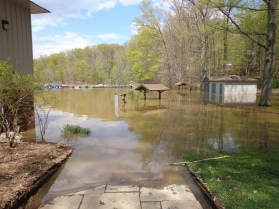 lake needwood flooded