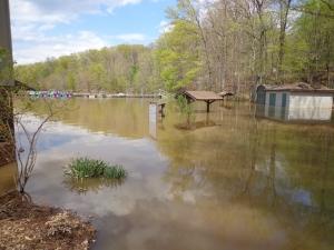 lake needwood flooded