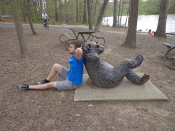 lake needwood bear sculpture and marc fournier