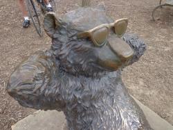 lake needwood bear sculpture