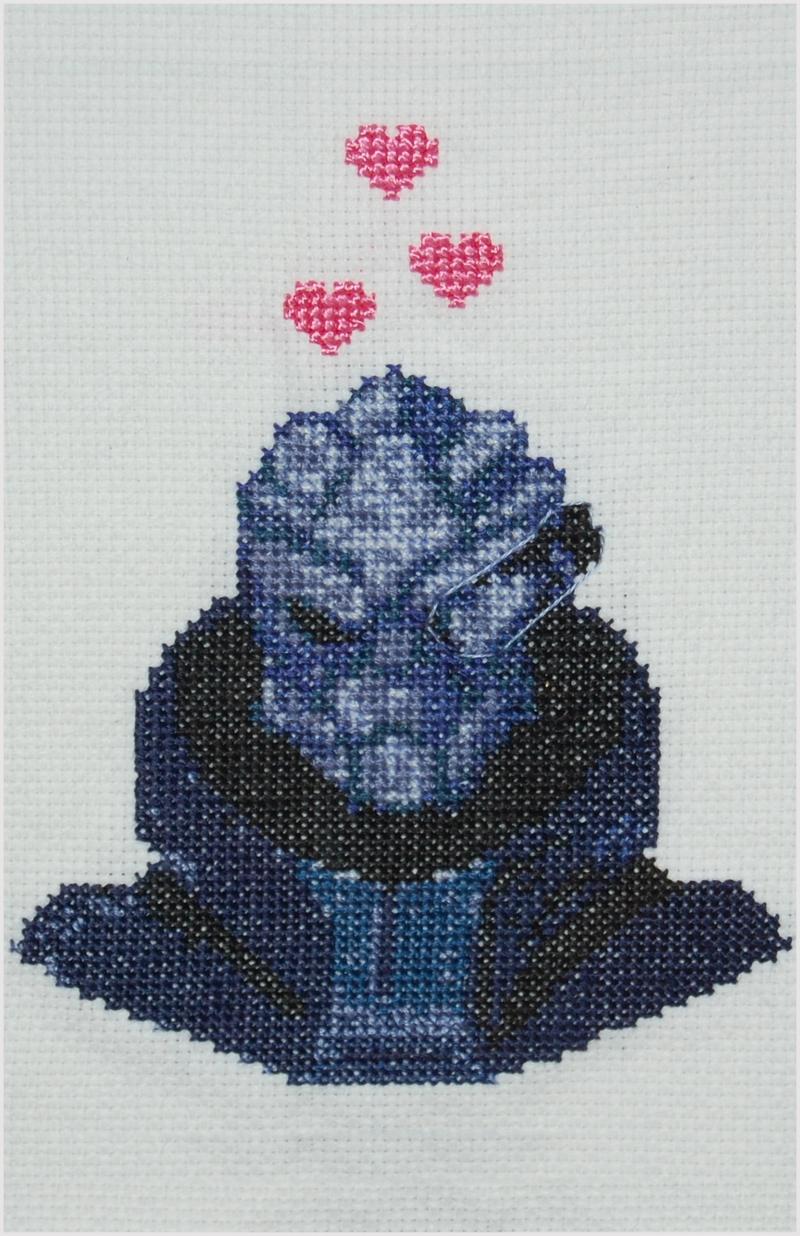 garrus vakarian cross stitch by Randie Hovatter