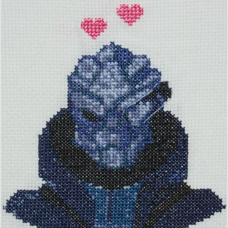 garrus vakarian cross stitch by Randie Hovatter