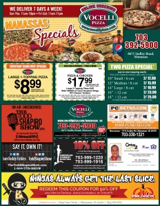Vocelli Pizza Urban Evolution Flyer