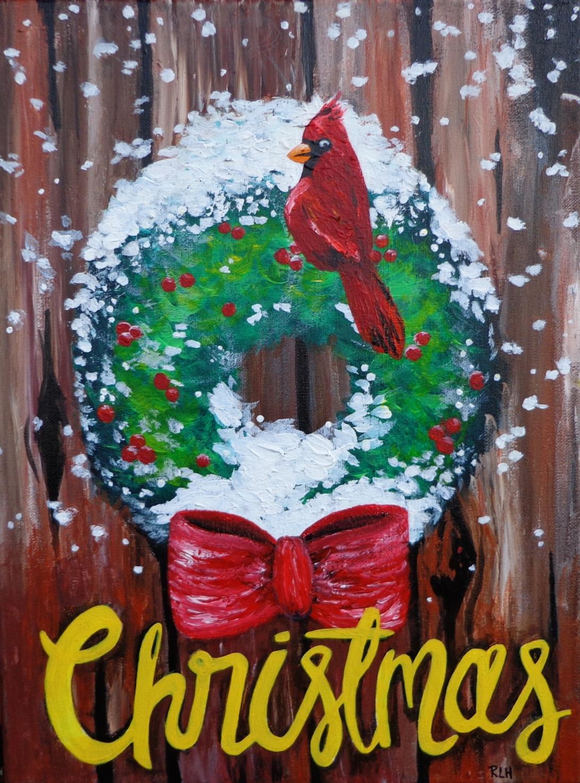 randie-christmas-cardinal-painting